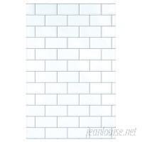 Wallies Subway Tiles 3.16' x 25 Wall Mural WXS1353