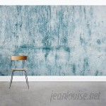 "Wallums Wall Decor Chipped Blue Concrete 8' x 144"" 3 Piece Wall Mural WWDR1132"