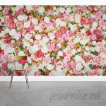 """Wallums Wall Decor Roses Floral 8' x 144"""" 3 Piece Wall Mural WWDR1121"""