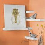 Brayden Studio 4 Piece Floating Wall Shelf Set BRSD6310