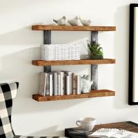 Gracie Oaks Pratik Industrial 3-Tier Wall Shelf GRKS7381