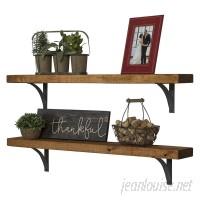 Laurel Foundry Modern Farmhouse Pinecrest Industrial Grace Simple Bracket 2 Piece Accent Shelf Set LFMF3262