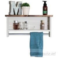 Millwood Pines Volpe Farmhouse Wall Shelf with Towel Bar CBSJ1000