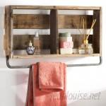 Mistana Natashia Barnwood Plank Wall Shelf MTNA4454
