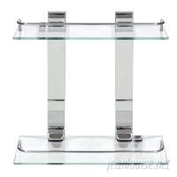 Modona Double Glass 13.75 Wall Shelf MBCO1413
