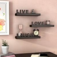 Wrought Studio Howton 3 Piece Live, Love, Laugh Floating Shelf Set VKGL1783