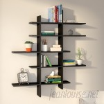 Zipcode Design Hoisington 5 Shelf Asymmetric Wall Shelf ZPCD6386