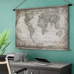 Alcott Hill World Map Tapestry ALTH6007