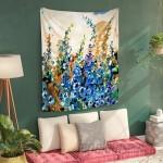 Bungalow Rose Delphiniums Jardin Bleu Art Tapestry BNGL4155
