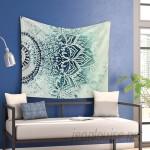 East Urban Home 'Blue Mina Mandala' by Nika Martinez Wall Tapestry HOBX3766