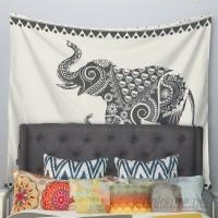 East Urban Home Ornate Indian Elephant-Boho by Famenxt Wall Tapestry EUBN8742