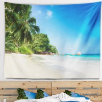 East Urban Home Seascape Beautiful Praslin Island Seychelles Tapestry and Wall Hanging ERBP1441