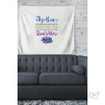 East Urban Home Typography 'Sky Above Peace Within' by Pom Graphic Design Wall Tapestry HOBX3394