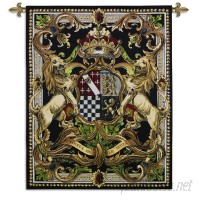 Fine Art Tapestries Crest On Black II by World Art Group Tapestry FAT2599