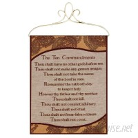 Manual Woodworkers Weavers Ten Commandments Tapestry and Wall Hanging MANU2254