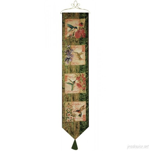 Manual Woodworkers Weavers Wings and Blossoms Bell Pull Tapestry and Wall Hanging MANU2312