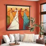 World Menagerie Unity BW by Stewart Tapestry WLDM3160