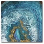 Courtside Market 'Blue and Gold Agate' Graphic Art Print on Wrapped Canvas COUR1916