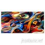 DesignArt Abstract Music and Rhythm Graphic Art on Wrapped Canvas ESIG2607
