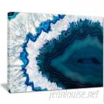 DesignArt 'Blue Brazilian Geode' Graphic Art on Wrapped Canvas DIBA5464