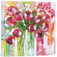 East Urban Home 'Razzle Dazzle Tulips' Painting Print on Canvas ESUR7783
