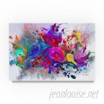 Ebern Designs 'Dark Color Explosion' Oil Painting Print on Wrapped Canvas EBRN1260