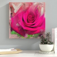 Ebern Designs 'Painted Petals XL' Photographic Print on Wrapped Canvas EBRD1460