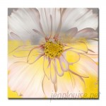 Ebern Designs 'Painted Petals XXXIV' Graphic Art on Wrapped Canvas ENDE1132