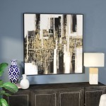 Everly Quinn Urbane Framed Oil Painting Print on Wood EYQN5835