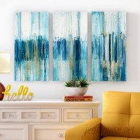 George Oliver 'Saturnia' Acrylic Painting Print Multi-Piece Image on Wrapped Canvas GOLV2757