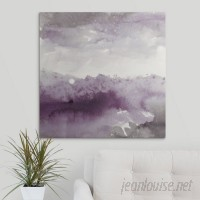 Great Big Canvas 'Midnight at the Lake II Amethyst and Gray' by Mike Schick Painting Print GRNG8654