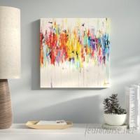Latitude Run Abstract Rainbow Painting Print on Wrapped Canvas LATR6188