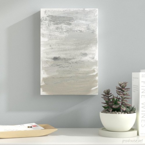 Latitude Run Silver Storm Painting Print on Wrapped Canvas LATR1685