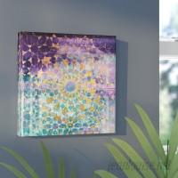 Mercer41 Viridian Violet Mandala Painting Print on Canvas MRCR4932