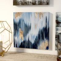 Mercury Row 'Gold Blue Fall' Framed Oil Painting Print on Wrapped Canvas MCRW5394