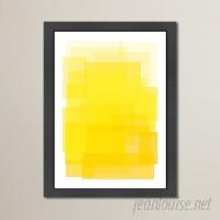 Mercury Row Libra 'Yellow Ombre' Framed Graphic Art Print MCRR4201