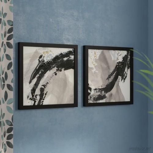 Orren Ellis 'Galaxy I' 2 Piece Framed Acrylic Painting Print Set ORNL1094