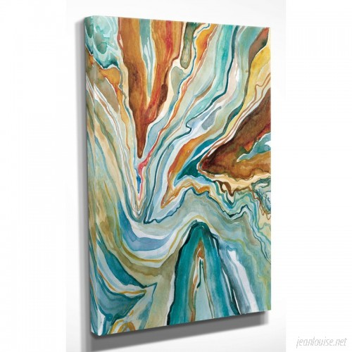 WexfordHome 'Geo Formation II' by Carol Robinson Painting Print on Wrapped Canvas WEXF1544