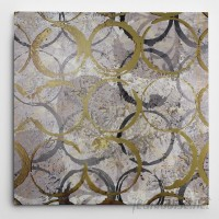 """WexfordHome """"Rings of Gold"""" by Katrina Craven Graphic Art on Wrapped Canvas WEXF1643"""