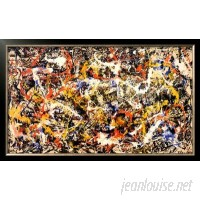 Wildon Home ® 'Convergence' by Jackson Pollock Framed Graphic Art CST40969
