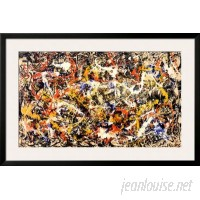 Wildon Home ® 'Convergence' by Jackson Pollock Framed Graphic Art CST40970