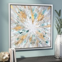 Willa Arlo Interiors 'Exploding Star Modern' Abstract Framed Oil Painting Print on Canvas WRLO1164