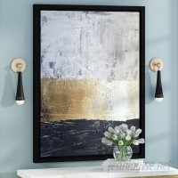 Willa Arlo Interiors 'Golden Sea' Framed Graphic Art Print on Canvas WRLO6233