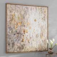 Willa Arlo Interiors 'Raindrops' Modern Abstract Framed Painting Print WRLO6183