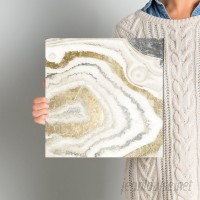 Willa Arlo Interiors 'Silver Gold Agate' Graphic Art on Wrapped Canvas WRLO2323