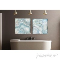 Wrought Studio 'Blue Agate II' Gallery Graphic Art Print on Wrapped Canvas VRKG5483