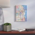 Wrought Studio 'Urban Rainbow Street Map Series: Chicago, Illinois, USA' Graphic Art on Wrapped Canvas VRKG1244