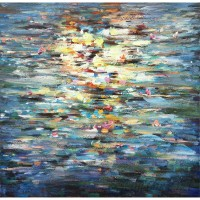 Wrought Studio Water Reflection' Oil Painting Print on Wrapped Canvas BAON1190