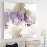 Zipcode Design 'Derive in Amethyst II' Painting Print on Wrapped Canvas ZPCD3005