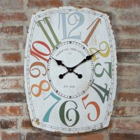 American Mercantile Oversized Home Essentials Whimsy Wall Clock AMMR1731